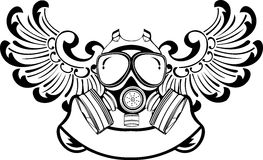 One Color Wings Gas Mask. Royalty Free Stock Images