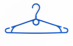 One colored plastic hanger, isolated on white background, close- Royalty Free Stock Photography