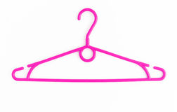 One colored plastic hanger, isolated on white background, close- Stock Photography