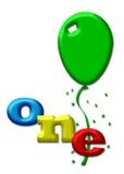 One colorfull balloon Stock Photo