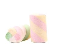 One colourful marshmallow. Royalty Free Stock Photos