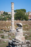 One column of the Temple of Artemis at Ephesus Stock Photography