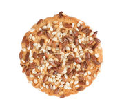 One cookie with seeds Royalty Free Stock Image