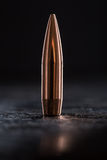 One copper bullet with bright reflections Stock Photo