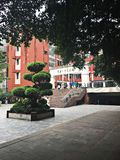 One corner of the campus. Chongqing No. 1 middle school in China, one corner of the campus Stock Image