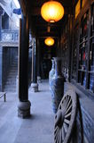 One corner of the courtyard in Pingyao Stock Photo