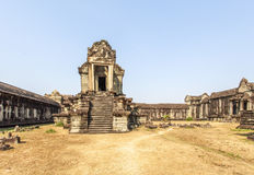 One of the corner entries of the outside structure, Siem Riep, Cambodia. One of the corner entries of the outside structure, Angkor Wat, Siem Riep, Cambodia Stock Photo