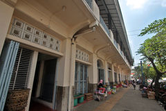 One corner fruit hawker stalls around Pasar Gede Surakarta Stock Image