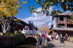 One corner of Lijiang city Royalty Free Stock Photography