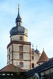 One of the Corner Towers of Fortress Marienberg Stock Images