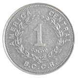 One Costa Rican Colon coin Royalty Free Stock Images