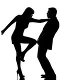 One couple man and woman domestic violence Royalty Free Stock Photos