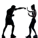 One couple man woman exercising workout fitness Royalty Free Stock Photography