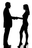 One couple man and woman handshake Royalty Free Stock Images