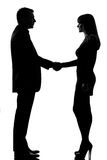 One couple man and woman handshake Royalty Free Stock Photography
