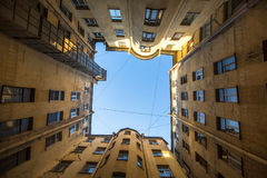 One of the court yard-wells in the historic center of St. Petersburg, Russia. Travel. Royalty Free Stock Images