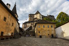 Orava castle, Slovakia. One of the courtyards of Orava castle in Slovakia stock images