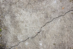 One crack in the old concrete wall. Diagonal crack in the old concrete wall. Old cracked texture. Concrete pattern  with one crack Stock Photos