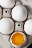 One cracked egg Royalty Free Stock Photos