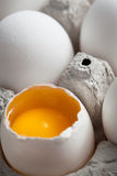 One cracked egg Royalty Free Stock Images