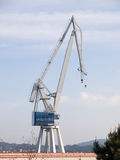 One crane in a shipyard Royalty Free Stock Photography
