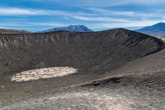 Crater in Death Valley Stock Photography