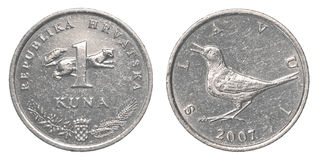 One croatian Kuna coin Stock Photography