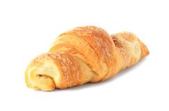 One croissant on a white background. One appetizing croissant on a white background Stock Images