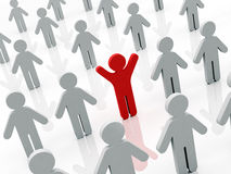 One in the crowd Royalty Free Stock Photography
