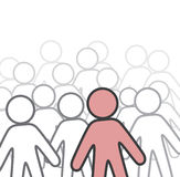 One in a crowd Stock Images