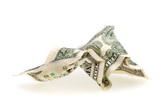 One Crumpled US Dollar Bill royalty free stock photos