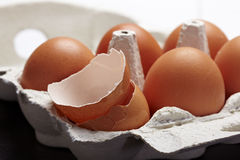 One crushed egg Royalty Free Stock Photos