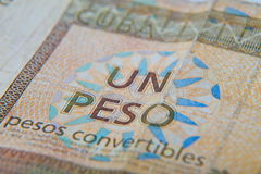 One cuban peso convertibles. Isolated Stock Photography