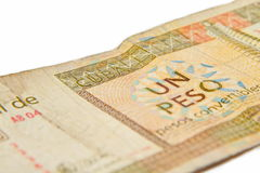 One Cuban peso convertibles,. On white background Royalty Free Stock Image
