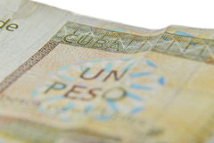 One Cuban peso convertibles,. On white background Stock Photos