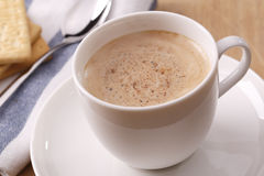 One cup of cappuccino. With cookies Stock Photo