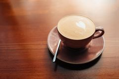 One cup of cappuccino stock image