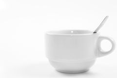 One Cup of coffee and Coffee spoon Stock Image