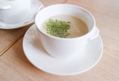 One cup of soup Stock Photo