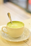 One cup warm green tea before going to bed. royalty free stock images