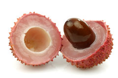 One cut lychee Royalty Free Stock Images