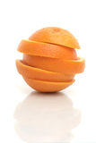 One cut orange. On a white background Stock Photography