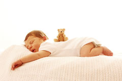 One cute little baby sleeping newborn Royalty Free Stock Image