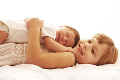 One cute little newborn baby Royalty Free Stock Photography