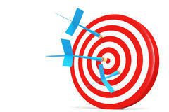 One darts accurate  in the target Royalty Free Stock Photo
