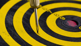 One darts in target Royalty Free Stock Image