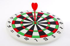 One darts in target Royalty Free Stock Photo