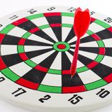 One darts in target Stock Photography