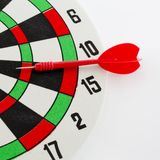 One darts in target Royalty Free Stock Photography