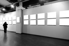 Empty frame in art museum Royalty Free Stock Photos